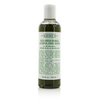 KIEHL'S CUCUMBER HERBAL ALCOHOL-FREE TONER - FOR DRY OR SENSITIVE SKIN TYPES 250ML/8.4OZ