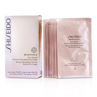 SHISEIDO BENEFIANCE PURE RETINOL INTENSIVE REVITALIZING FACE MASK 4PAIRS