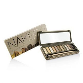 URBAN DECAY NAKED 2 EYESHADOW PALETTE: 12X EYESHADOW, 1X DOUBLED ENDED SHADOW/BLENDING BRUSH -