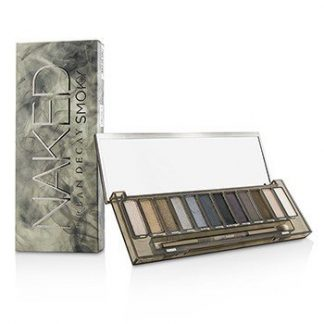 URBAN DECAY NAKED SMOKY EYESHADOW PALETTE (12X EYESHADOW, 1X DOUBLED ENDED SMOKY SMUDGER/TAPERED CREASE BRUSH) -
