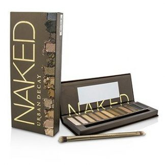 URBAN DECAY NAKED EYESHADOW PALETTE: 12X EYESHADOW, 1X DOUBLED ENDED SHADOW/BLENDING BRUSH -