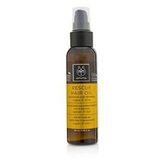 APIVITA RESCUE HAIR OIL WITH ARGAN & OLIVE (FOR ALL HAIR TYPES) 100ML/3.38OZ