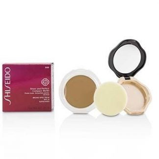 SHISEIDO SHEER & PERFECT COMPACT FOUNDATION SPF 21 (CASE + REFILL) - # B60 NATURAL DEEP BEIGE 10G/0.35OZ