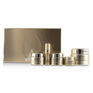 LANCOME ABSOLUE PRECIOUS CELLS SET: 2X INTENSE REVITALIZING CREAM SPF15 + RECOVERY NIGHT CREAM + EYE CREAM + OLEO-SERUM 5PCS