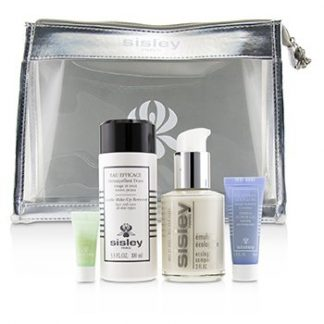 SISLEY WEEK-END MUST-HAVES SET: ECOLOGICAL COMPOUND 60ML + GENTLE MAKE-UP REMOVER 100ML + EXPRESS FLOWER GEL 10ML + EYE CONTOUR MASK 4PCS+1BAG