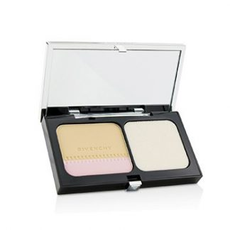 GIVENCHY TEINT COUTURE LONG WEAR COMPACT FOUNDATION & HIGHLIGHTER SPF10 - # 1 ELEGANT PORCELAIN (UNBOXED) 10G/0.35OZ
